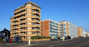 Modern apartments on Kings Way Hove. royalty free stock photo