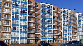 Modern apartments on Kings Way Hove. stock photo