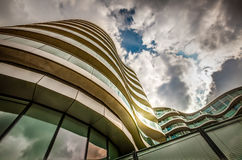 Modern apartments. New, modern executive apartment buildings in Battersea area in London Stock Images