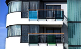 Modern seaside apartments Royalty Free Stock Images