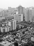 Modern apartments and office buildings in Shanghai. Black and white color modern tall apartments and office buildings in Shanghai  China Royalty Free Stock Photography