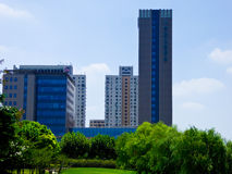 Modern apartments and office buildings in Shanghai. Modern tall apartments and office buildings in Shanghai  China Stock Photo