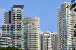Modern Apartments. And residential buildings Royalty Free Stock Images