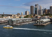Modern Apartments in Sydney built on historic piers Royalty Free Stock Image