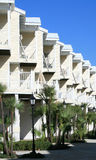 Modern Apartments Townhomes. Apartment complex or townhomes with tropical landscaping royalty free stock photography