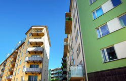 Free Modern Apartments With A Blue Sky Stock Photography - 56617872