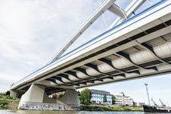 Modern Apollo bridge in Bratislava, Slovakia Stock Photography