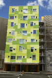 Modern appartement building. With green details Royalty Free Stock Image