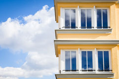 Modern appartment building. In vienna - nice background Royalty Free Stock Photography