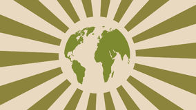 Modern april 22 earth day rotation animation stock footage