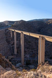 Modern aquaduct in spain Stock Photography