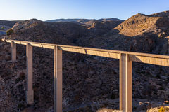 Modern aquaduct in spain Stock Photos