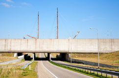 Modern aqueduct Royalty Free Stock Images