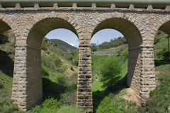 Modern aqueduct Royalty Free Stock Image