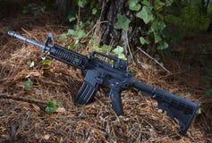Modern AR rifle Stock Image