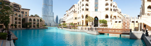 Modern arabic city quay Royalty Free Stock Image