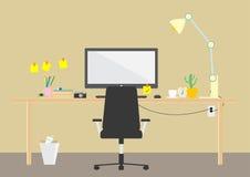modern arbetsplats Royaltyfri Fotografi