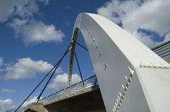 Modern arch bridge. In Tartu, Estonia Stock Photos