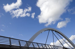Modern arch bridge Royalty Free Stock Images