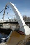 Modern arch bridge Royalty Free Stock Image