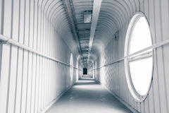 Modern arched passageway in a factory Royalty Free Stock Image
