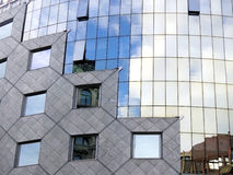 Modern architect curved glass wall facade Royalty Free Stock Images