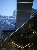 Modern architectecture, deconstructivistic, tron,. Futuristic, modern, deconstructivism, mirror, tron Stock Photo