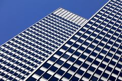 Architectural background in blue tones royalty free stock photos