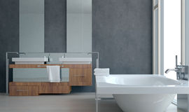 Modern Architectural Bathroom Interior Design Royalty Free Stock Images