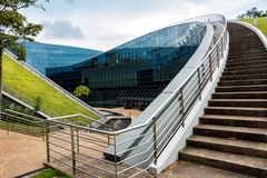 Modern architectural building of Nanyang Technological University, Singapore stock images