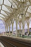 Modern architectural design of a train station Stock Photo