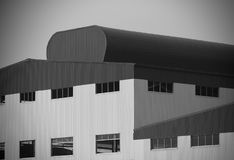 Modern architectural factory building stock photo stock image