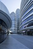 A modern architectural feature. Architectural feature of Wangjing modern city, Beijing, China Stock Photography