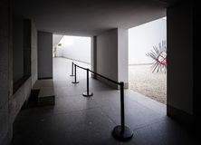 Modern architectural forms. Porto. Portugal. The courtyard of the museum. White architecture stock images