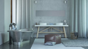 Modern Architectural Home Bathroom Design Stock Photography