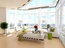 Modern Architectural Living Room Interior Design Stock Images