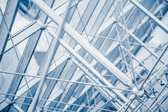 Modern Architectural Skylight Structure Details. From Indoor a Building Stock Image