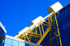 Modern architecture. Against blue sky background royalty free stock photography