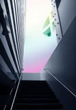 Modern Architecture. Architectural abstract - interior of a modern building Royalty Free Stock Photo