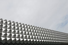 Modern Architecture. Very modern architectural details of a shopping centre in Dresden Royalty Free Stock Photography