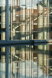 Modern architecture. Government buildings in Berlin with reflections in the River Spree early in the morning Stock Photo