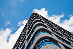 Modern Architecture. Photograph of a blue modern architecture Royalty Free Stock Images