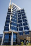 Modern Architecture. Beautiful Modern Building with clear sunny blue sky Stock Photo