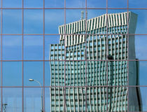 Modern architecture. Reflection of a building royalty free stock photo