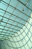 Modern architecture. Modern interior with glass roof Stock Photos