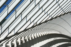Modern architecture. Part of roof of modern railway station in Liège, Belgium Stock Photo