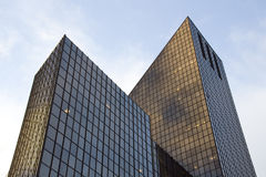 Modern architecture. S with unique shapes stock photography