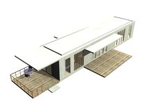 Modern Architecture. 3D rendered Illustration. Royalty Free Stock Photos