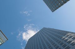 Modern architecture. And blue sky Royalty Free Stock Photos