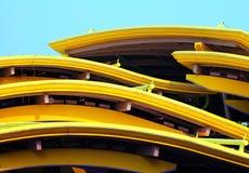 Modern Architecture. Detail, Disney Land, Hong Kong stock photo